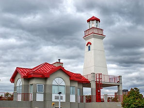 Light house located in Port credit,Charter boat dock,