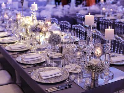 Wedding day event organization table set