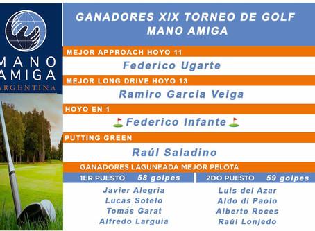 XIX TORNEO DE GOLF MANO AMIGA