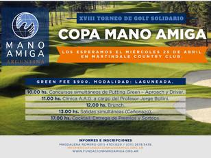 Copa Mano Amiga: XVIII Torneo de Golf de Solidario en Martindale C.C.