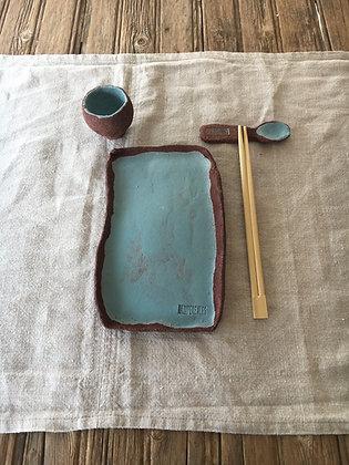 Conjunto sushi Rojo y Azul