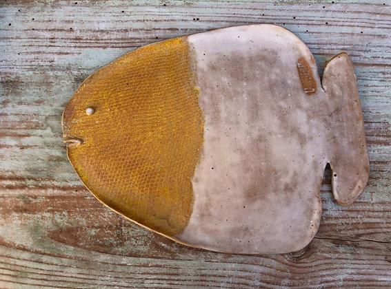 Plato pez esmaltado