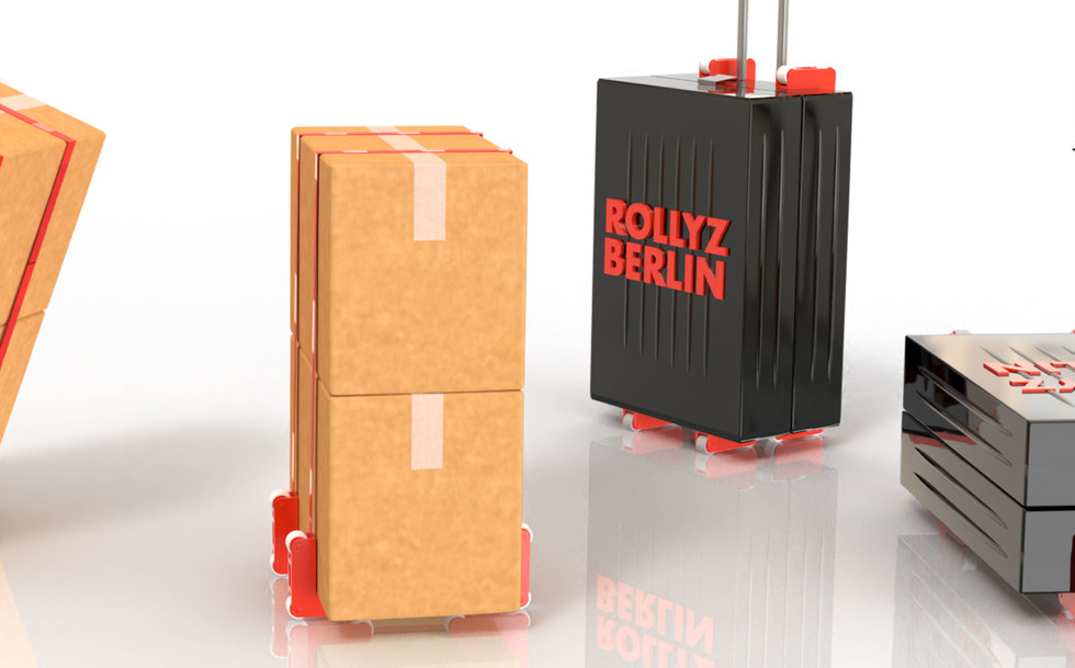 Pakete und Koffer transportieren mit ROLLYZ