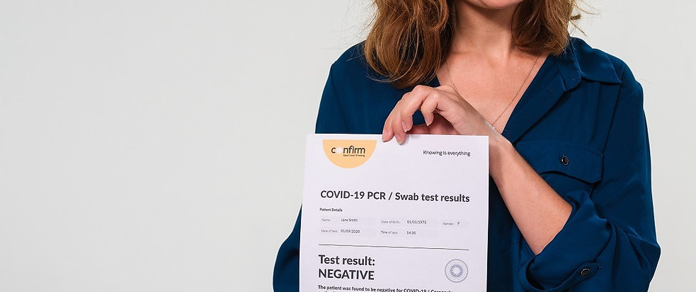 PCR / Swab Test for COVID-19, including Fit to Fly Certificate
