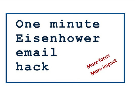 One Minute Eisenhower Email Hack