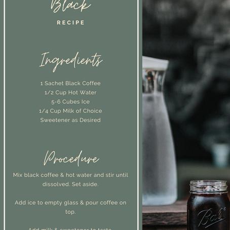 Iced Black Coffee Recipe