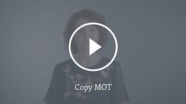Video still Copy MOT copywriting service