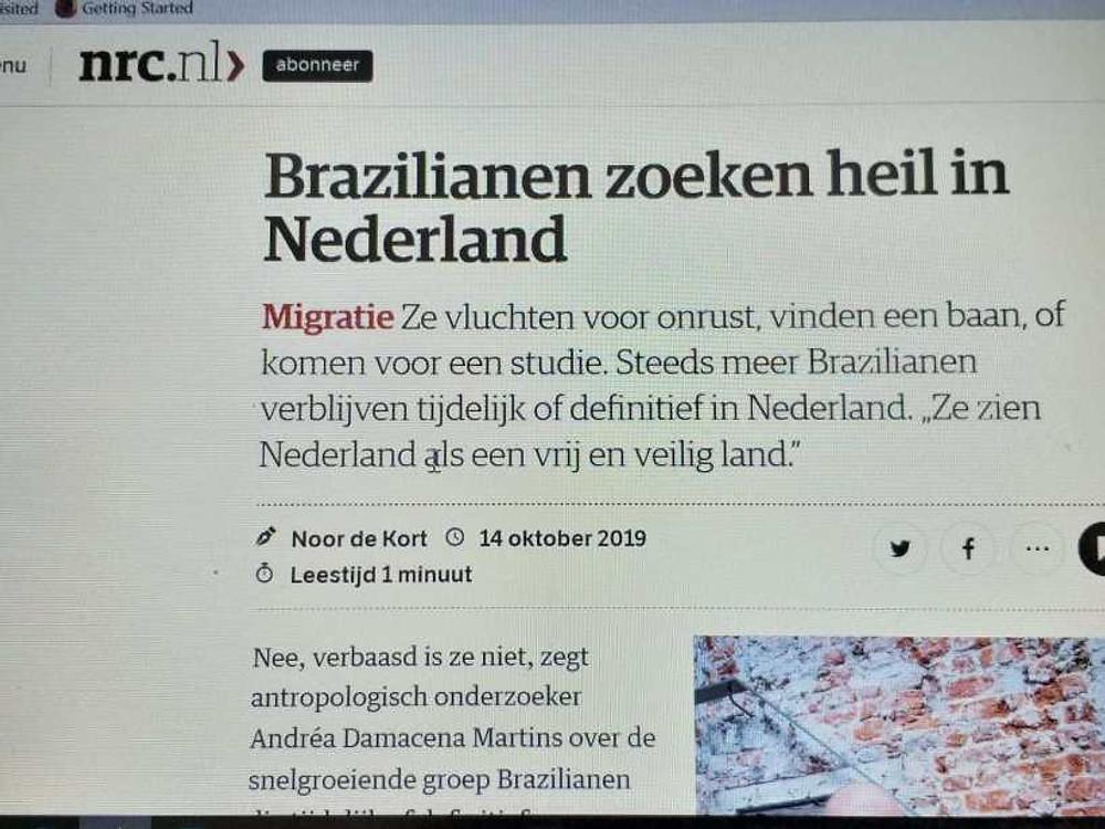 Reportagem do jornal NRC sobre brasileiros na Holanda