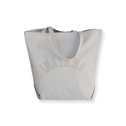Nude on Canvas Oversized Collegiate Tote