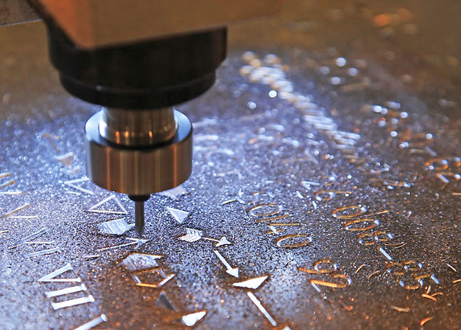 Milling of the various icons on sheet me