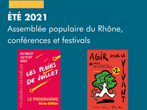 Première Assemblée populaire du Rhône, conférences et festivals