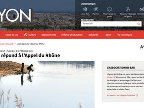 La métropole et la ville de Lyon signent l'Appel du Rhône