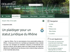 aqueduc.info présente l'Appel du Rhône