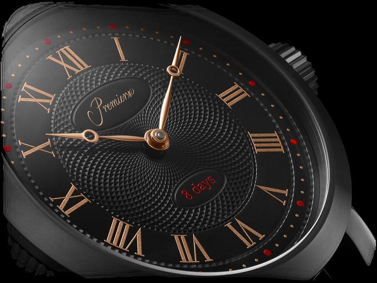 Premiers Swiss Luxury Watches Black DLC Case