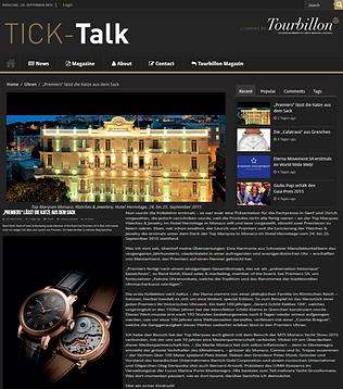 Premiers Watches Tick Talk Tourbillon