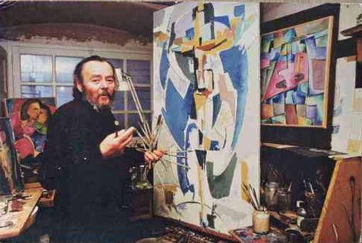Jean Mingam dans son atelier à Nantes
