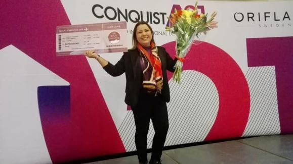 Evelyn Peña, ganadora Beauty Challenge - Oriflam