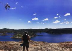 Overlooking Pindari Dam