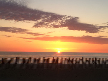 Sunrise from the front deck