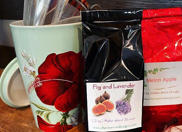 FLEUR Steeping Cup & Leaf Tea Set