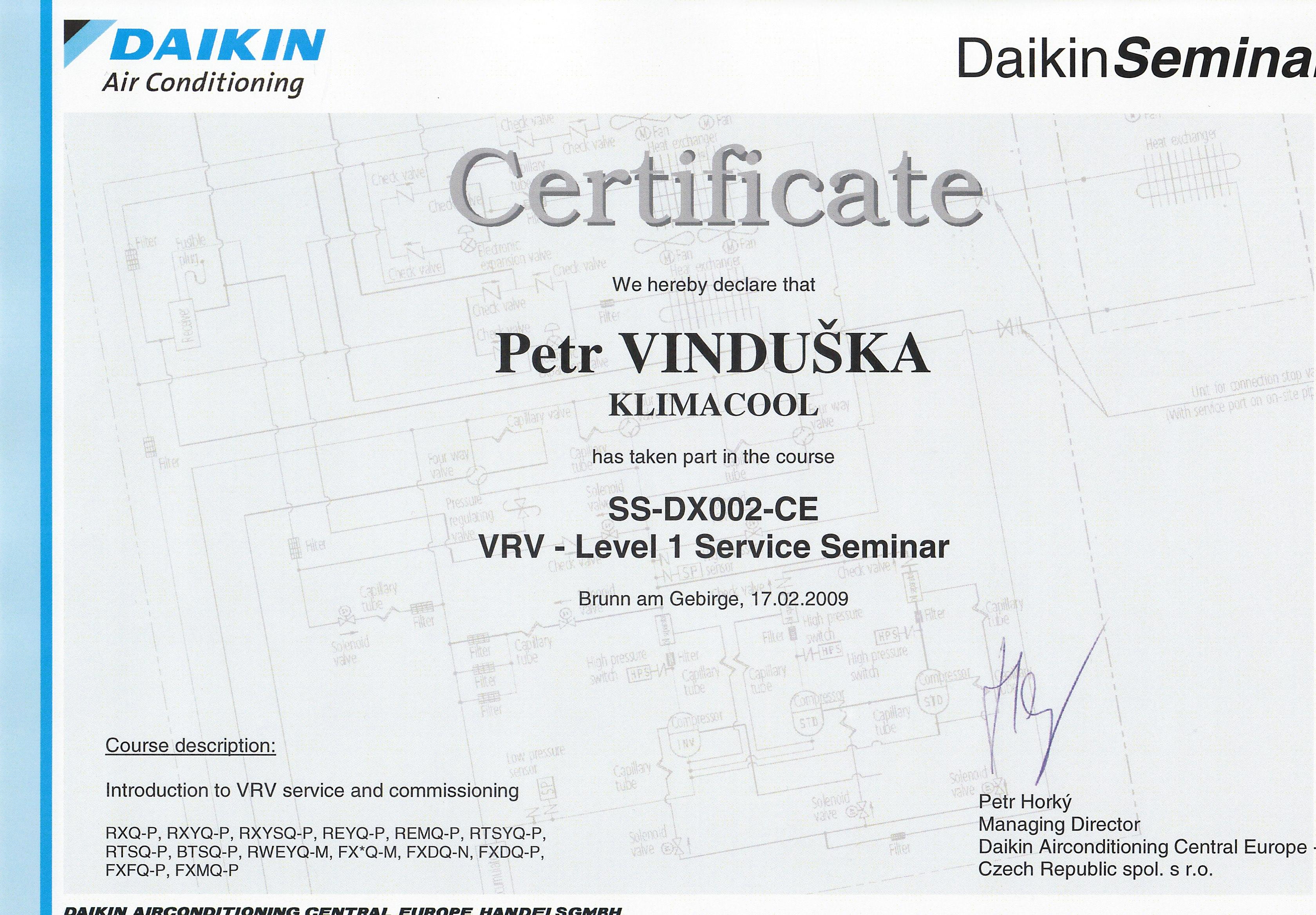 Klimatizace DAIKIN - VRV systémy