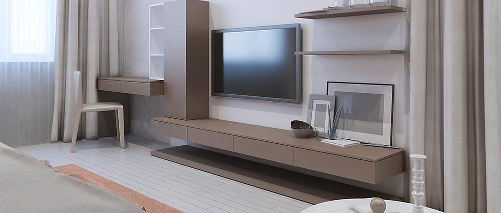 V nábytkovém designu chladnou bílou následuje teplá taupe.
