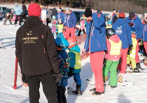Chcete naučit své děti lyžovat? Prostor pro výuku.
