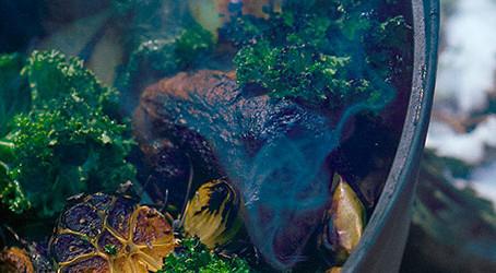 Jehněčí kolínka po toskánsku s polentou
