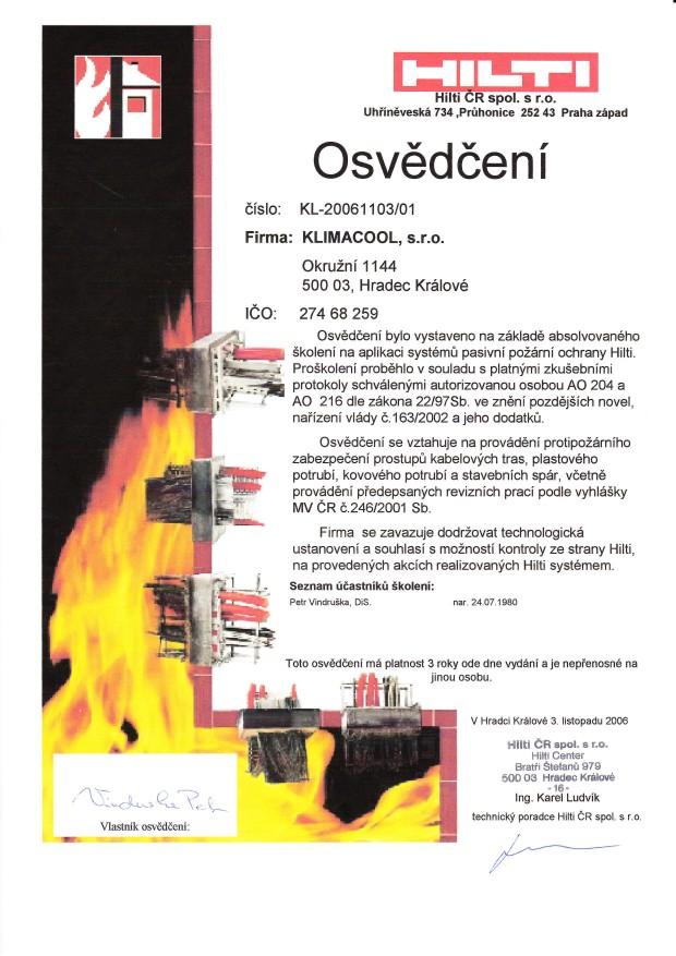 Požární ochrana HILTI