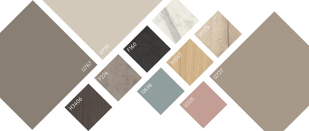 Rozmanitý barevný odstín, všestranně kombinovatelný