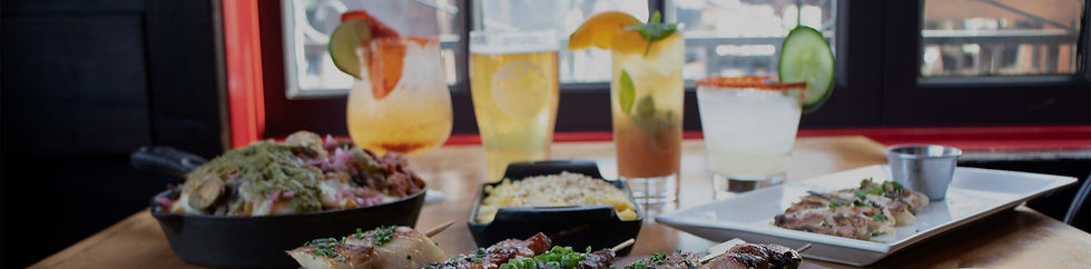 Happy Hour drinks and food being served near Lindero Canyon, Agoura Hills.