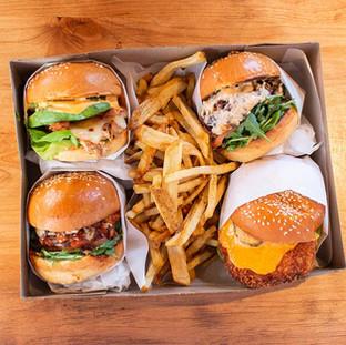 An Assortment of Sandwiches & Fries