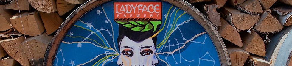 Artwork on barrel for Tavern Tomoko & Ladyface Brewery where you get the best lunch in Agoura Hills, California.