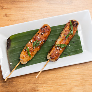Chicken Meatball Skewers from the Robata Grill