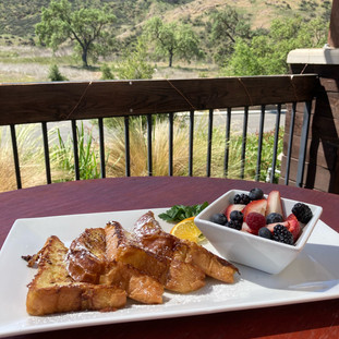 French Toast and Fresh Fruit for Sunday Brunch