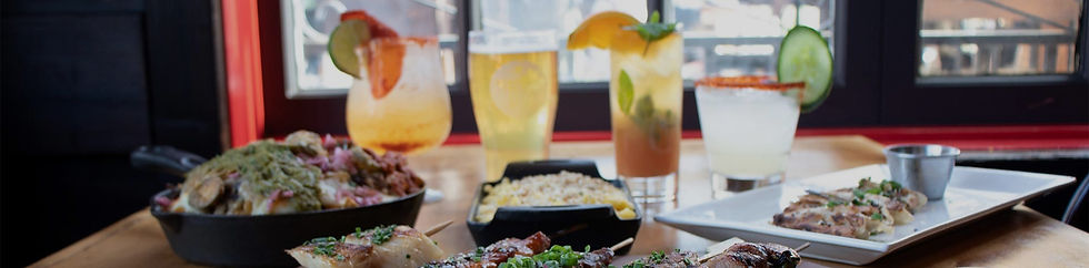 Happy Hour drinks and food being served near Kanan Rd, Agoura Hills.