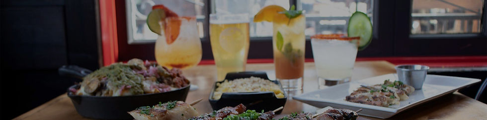 Cocktails and food served during happy hour near Oak Park, California.