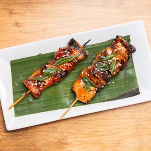 Pork Belly Skewers from the Robata Grill
