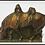 Thumbnail: 1930s Brass/Bronze Horse Equestrian Book Ends