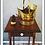 Thumbnail: Vintage English Hammered Brass Fireplace Bucket
