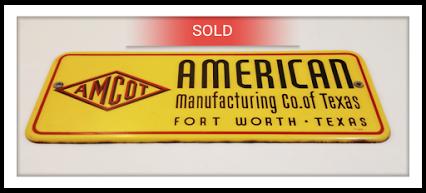 Vintage 1955 Amcot Oil Porcelain Sign (American)