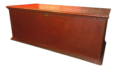 1800s Antique Primitive Red Blanket Chest