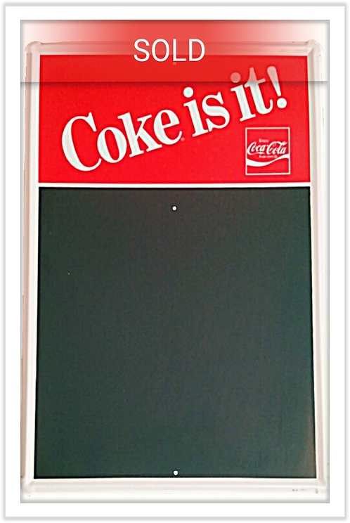 Original 1947 Coca-Cola Blackboard Menu Sign