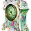 Thumbnail: Antique Royal Bonn Porcelain Gold Gilt Clock