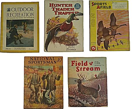 Vintage 1920/1930s Sportsman/Hunting Magazine Lot