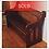 Thumbnail: Rare Victorian Walnut & Chestnut Church Pew Bench