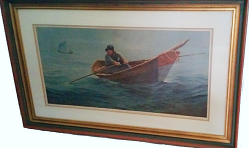 Nautical Print w/Frame by (Wellington Ward Jr.)