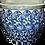 Thumbnail: Large Ceramic Asian Tree Planter/ Pot (Blue/White)