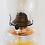 Thumbnail: Vintage Giant Brand Clear Glass Kerosine Oil Lamp