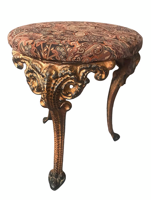 Early 20th Century Cast Iron Claw Leg Foot Stool